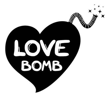 love dynamite: Love bomb message