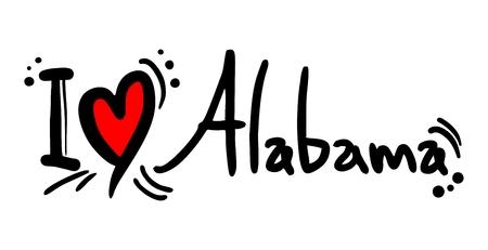 provincial: I love Alabama Illustration