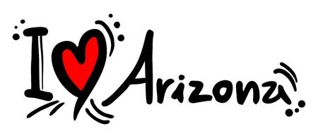 provincial: I love Arizona Illustration