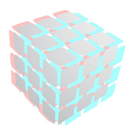 dimensinal: Cuber art symbol