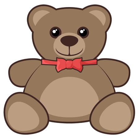 Elegant teddy bear Vector