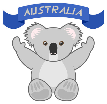 Australia ribbon design Vector