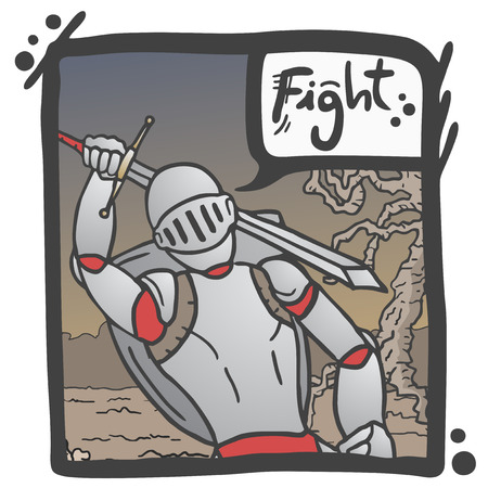 Fight comic message Vector