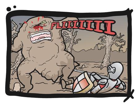 Comic fight scene Vector