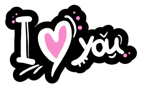 Nice i love you message Vector