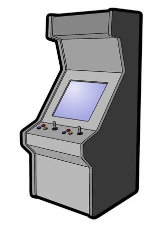 operated: Arcade machine design Illustration