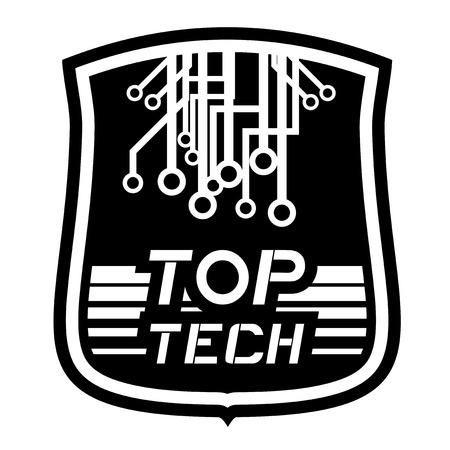 Top tech emblem Vector