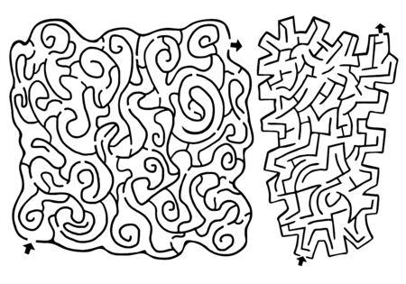 Creative mazes design Illustration