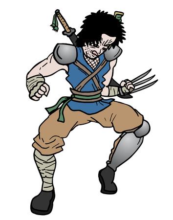 partisan: Rebel samurai Illustration