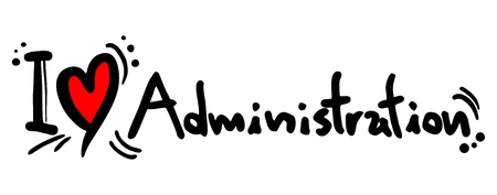 I love Administration Vector