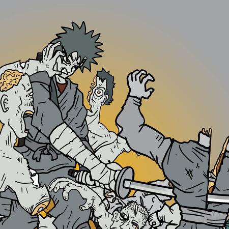 Attack comic draw