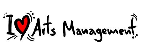 I love Arts Management Stock Vector - 26592944