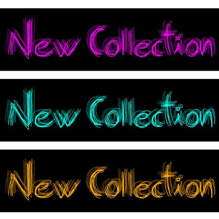 repertoire: Nieuwe Collectie kleur Stock Illustratie
