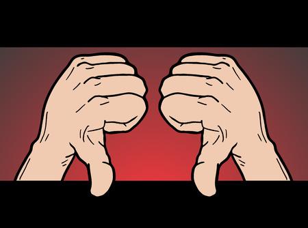 rout: Dislike hands Illustration