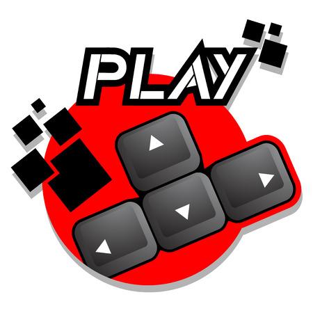 directives: Play icon Illustration