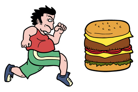 Fast fat food Vector
