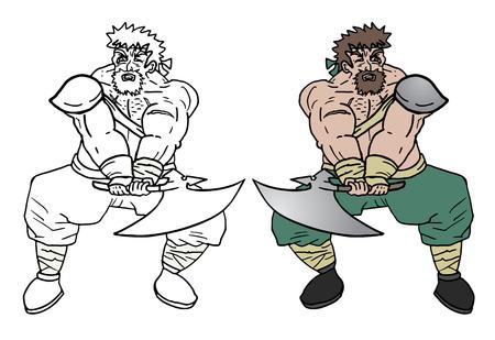 avenger: Hombre fuerte Fat Vectores