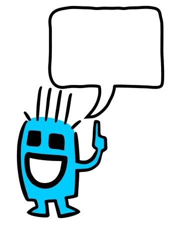 sociable: Smile puppet Illustration