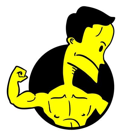 Strong man icon Vector