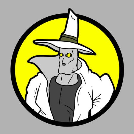 mystery man: Mystery man icon Illustration