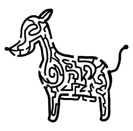 bustle: Dog maze
