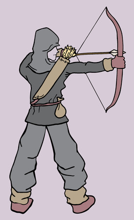 Archer draw Vector