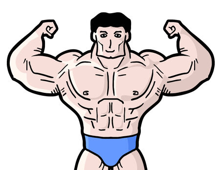 tough man: Gym man