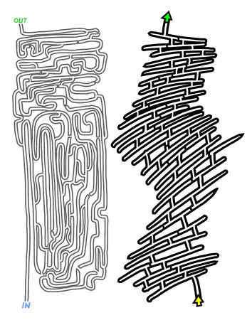 Abstract maze design