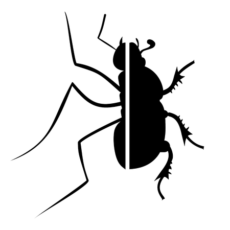 insect repellent: Insect design Illustration