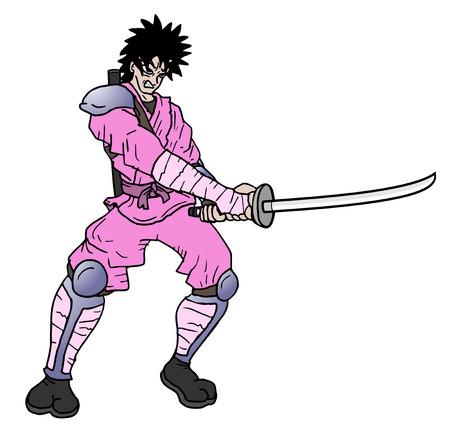 Pink samurai
