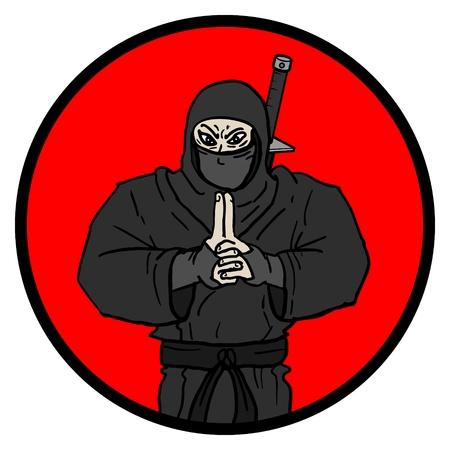 Ninja icon Vector