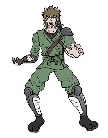 Surprise ninja attack  illustration  Ilustração