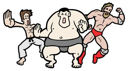 contestant: Fighters illustration  Illustration