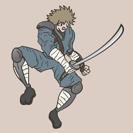 crouching: Jump sword attack