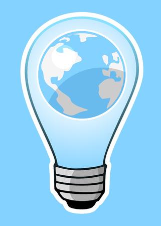 phosphorescence: World global icon Illustration