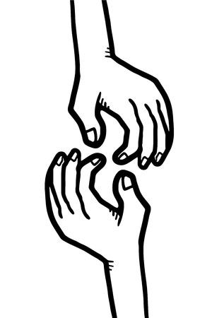 condone: Friends hands Illustration
