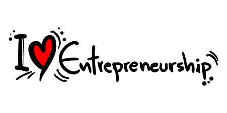 emprendimiento: Me encanta el esp�ritu empresarial Vectores
