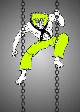 Crazy ninja Vector