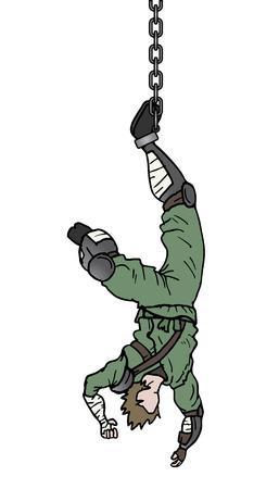 abducted: Danger scene Illustration