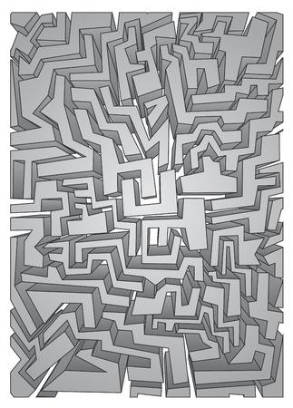 original single: Creative maze vector