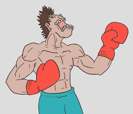 Muscle man design Vector