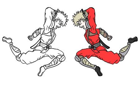 Jump fighter Vector