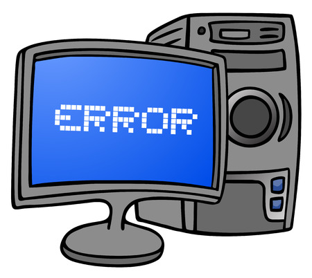 blunder: Error message Illustration