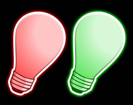 sconce: Luz verde y rojo Vectores