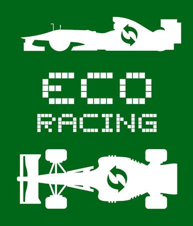 Eco racing symbol Vector