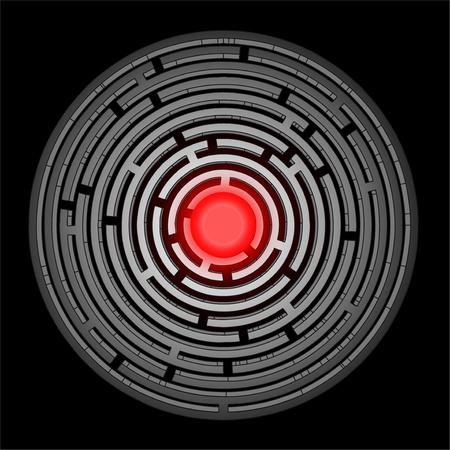 bustle: Round maze design Illustration