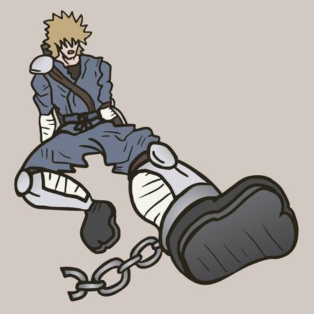 imprisoned person: Ninja draw