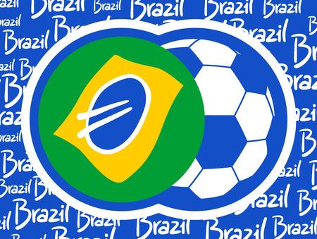 Soccer brazil sport symbol Vector