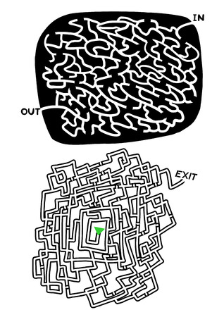 bustle: Two mazes