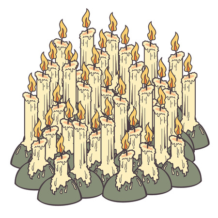 Vintage candle Vector